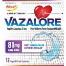Vazalore Liquid-Filled Aspirin Capsules, 81 mg, 12 ct
