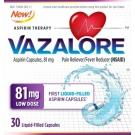 Vazalore Liquid-Filled Aspirin Capsules, 81 mg, 30 ct