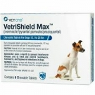 VetriShield Max Chewable Tablets  For Dogs 26 - 50 Pounds (Blue)- 6 doses
