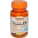 Sundown Naturals High Potency D3 Vitamin D 1000 IU Softgels- 60ct