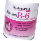 Vitamin B-6 (100mg) - 100 Tablets- DISCONTINUED 7-12
