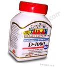 21st Century Vitamin D 1000 IU - 110 Tablets