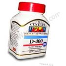 21st Century Vitamin D 400 IU - 100 Tablets