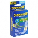 Compound W Wart Remover, Maximum Strength, One Step Invisible Strips- 14ct