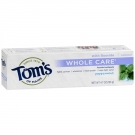Tom's of Maine Whole Care with Fluoride Natural Toothpaste, Peppermint- 4.7oz