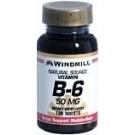 Windmill Vitamin B-6 50 mg Tablets 100ct