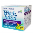 T.N. Dickinson's Witch Hazel Hemorrhoidal Pads - 100ct