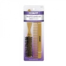 Conair® Wood Grip Brush and Comb Set- 3ct