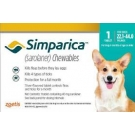 Simparica Chewable Tablets for Dogs- 22-44lbs (40mg) Blue- 6 Pack