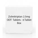 Zolmitriptan 2.5mg ODT  Tablets - 6 Tablet Box