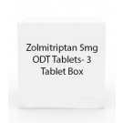 Zolmitriptan 5mg ODT Tablets- 3 Tablet Box