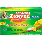 Children's Zyrtec Allergy 24 Hour 10mg Dissolve Tabs Citrus - 12ct
