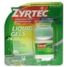 Zyrtec 24-Hour Allergy Relief, 10 mg, Liquid Gels- 12ct