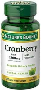 Nature's Bounty Cranberry Vitamin C Softgels 120ct