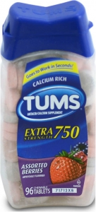 Tums E-X Tablets Assorted Berries - 96