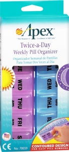 Carex - Apex Twice-a-Day Weekly Pill Organizer