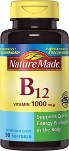 Nature Made Vitamin B-12 Tablets Dietary Supplement, 1000 mcg, 90 count