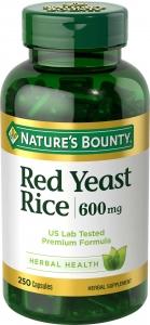 Nature's Bounty Red Yeast Rice 600mg Capsules- 250ct