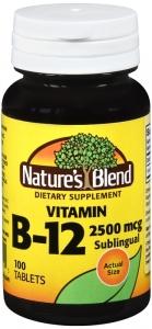 Nature's Blend Vitamin B-12 2,500 mcg Tablets 100 ct