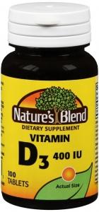 Natures Blend Vitamin D 400 I.U. Tablets 100ct
