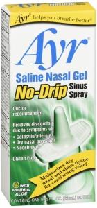 Ayr Saline Nasal Gel No-Drip Sinus Spray - .75 oz
