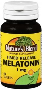 Nature's Blend Melatonin 1 mg Tablets 60ct