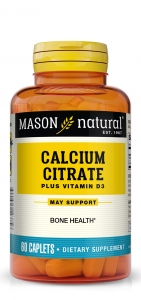 Mason Natural Calcium Citrate with Vitamin D3, Caplets, 60 ct