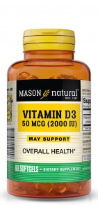 Mason Vitamin D3, D2000 Iu, Softgels, 60ct