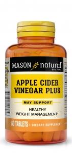 Mason Vitamins Apple Cider Vinegar Plus Tablets, 60 Ct