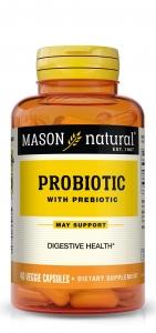 Mason Natural Probiotic With Prebiotic Veggie Caps - 40 ct
