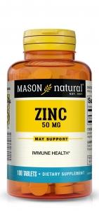 Mason Vitamins Natural Zinc 50 mg Tablets - 100ct
