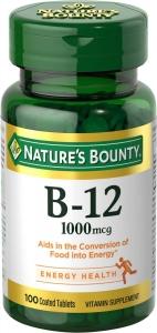 Nature's Bounty Vitamin B-12 1000mcg Tablets 100ct