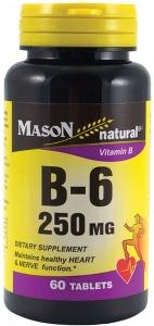 Mason Natural Vitamin B-6 250 mg Tablets 60ct
