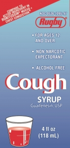 Rugby Cough Syrup, Guaifenesin 200mg, 4oz
