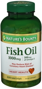 Nature's Bounty Odorless Fish Oil 1000mg Softgels 220ct