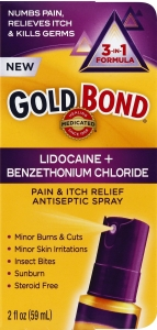 Gold Bond Medicated Pain & Itch Relief Spray with Lidocaine, 2 Oz