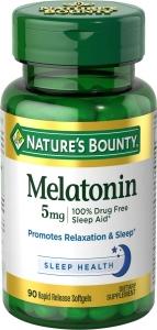 Nature's Bounty Quick Dissolve Melatonin 3mg Tablets 120ct