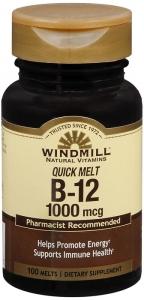 Windmill Vitamin B-12 1000 mcg Tablets Sublingual - 100