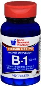 GNP Vitamin B-1 100mg Tablets, 100ct