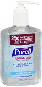 Purell Advanced Hand Sanitizer, Pump, Original, 8 fl oz