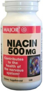 Niacin 500 mg Tablets - 100 Count Bottle
