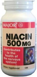 Niacin 500 mg Tablets - 100 Count Bottle