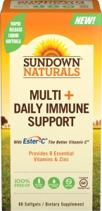 Sundown Naturals - Multi + Daily Immune Support - 60 Softgels