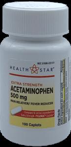 Health Star Geri-Care Extra Strength Acetaminophen 500mg - 100 Caplets