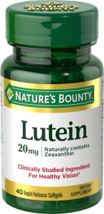 Nature's Bounty Lutein Softgels 20mg 40ct