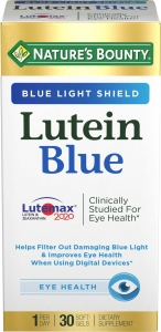 Natures Bounty Lutein Blue 20 mg Softgels 30ct