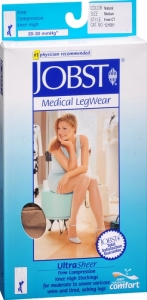 Jobst UltraSheer, Knee High, 20-30mmHG Compression, Natural, Medium, 1 Pair