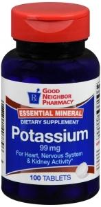GNP Potassium 99 mg Tablets 100ct