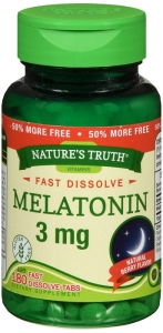 Nature's Truth Melatonin 3mg Fast Dissolve Tabs 180 ct