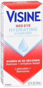 Visine Red Eye Hydrating Comfort Lubricating Eye Drops - 0.5 fl oz